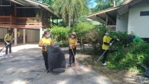 16 กรกฎาคม 2564 ร่วมกิจกรรมทำความสะอาดวัดป่าบ้านตาด ตามโครงการรณรงค์รักษาความสะอาดและความเป็นระเบียบเรียบร้อยของบ้านเมือง ประจำปีงบประมาณ พ.ศ. 2564